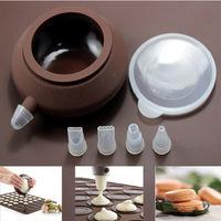 48 Circles Silicone Macaron Macaroon Silicon Baking Pastry Sheet Mat Cup Cake Mold Tray & Decoration Pastry Pen Bag DIY Set