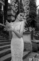 Custom Size Mermaid Wedding Dress White/Ivory Lace V Neck Spaghetti Strap Beaded High Quality New Sexy Bridal Gown