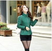 Ladies Larger Size Thicken Cotton Jackets Coat Women 2014 New Fashion Collar Warm Winter Coat Casual Women Down Jacket Coat