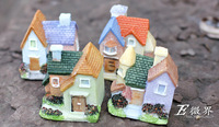 free shipping Flower house small house villa model home decoration of European style castle resin