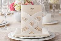 White Classic Design Wedding Invitation, Free Personalized & Customized Printing,50 sets,Wedding Card,Free shipping