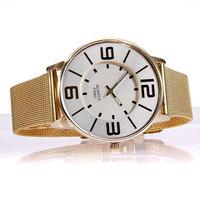 Hot Ladies fashion simple gold / Men's quartz watch
