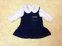 2014  New  Retail  Brand  fashion  spring/autumn  children's  set  turn-down  collar  long  sleeve  girl's  set  shirt+dress
