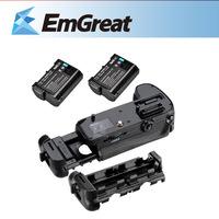Portable Meike Battery Grip for Nikon D7100 + 2 x Rechargeable Li-ion Batteries for EN-EL15 D7100 D7000 D800 D600 017210