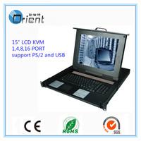 "15"" 8 ports Rack mount LCD KVM Switch"