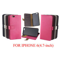 10pcs For Apple iPhone 6 Leather Case, PU Wallet Stand Design Case for iPhone 6 6G 4.7inch Mobile Phone Bag Cover Luxury