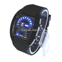 Drop Shipping Hot Sale Promotion Fashion Car Meter Dial Sports LED Digital Watches Women Men Watch relogio masculino