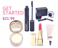 PROMOTION! 2014 hot sale eye black mascara+face powder makeup set cosmetics 5pcs christmas set gift make up free shipping