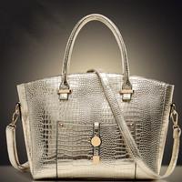Hot! Fashion Aligator Handbag 2014 New Tide Women Litchi Shoulder Bag Exquisite Female Messenger Bag Luxurious PU Leather Bolsas