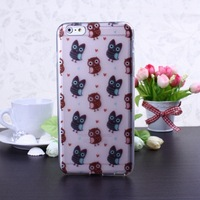 Best Offer Fashion New Color Pattern TPU Soft Case Cover for iPhone 6 Plus---  small Owls