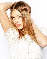 Free Shipping color acrylic gem hair band hoop colorful gem hairband gem necklace new fashion hairband