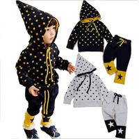 Free Shipping Magic Children's Winter Clothing Sets Fashion Wear Pants Girls Boys Baby Autumn Star Clothing Sets Sport Kids