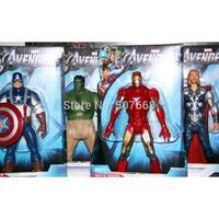 20pcs/lot The Avengers Iron Man + Hulk + Thor + Captain America(set of 4) PVC Action Figures Toys 8'' 20CM