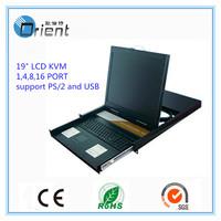 "19"" 8 ports Rack mount LCD KVM Switch"