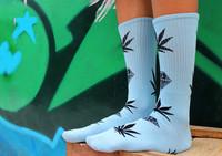 Hip Hop Diamond Sport Skate Stocking Women Men's Cotton socking Basketball marijuana cannabis Socksing 3 color