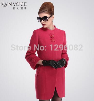 Wool tweed coat winter coats wool coat fashion wool jacket medium-long design brand outerwear(China (Mainland))