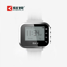Wireless watch wrist pagers system LCD display Secrui KR-C166 in bank,hospital,coffe,restaurant bar calling fast waiter service