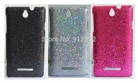 3 x Bling Glitter Hard Skin Cover Case For Sony Xperia E Dual C1605 c1604 c1505 c1504