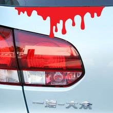 Engraçado blooding decoração do carro decalque moda cauda adesivo de carro estilo do carro reflexivo adesivos de vinil à prova d ' água(China (Mainland))