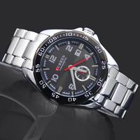 Free Shipping! Hot Sale Curren Quartz Man Watches Gentle Men's Boy's Fashion Wedding Gift Calendar Analog Wrist Watches, 8113
