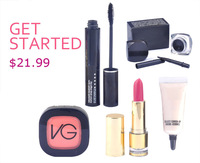 Christmas gift! 2014 new fashion MA brand eyes+face+lips makeup set sexy women love 5pcs cosmetics set free shipping