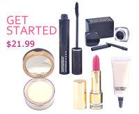 Christmas gift! 2014 hot sale eye mascara+face powder makeup set cosmetics 5 pcs set christmas gift make up kit free shipping