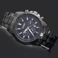 1PC Black Sports Water GentleMen's Watches Man Boy's Curren Calendar Analog Quartz Gifts Wrist Watches, 8009, Free Shipping
