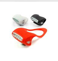 Bike lights Mountain bike bullfrog light silicone tail lights Headlights 7 led warning light equipment