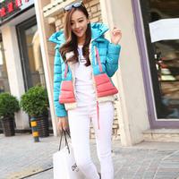 2014 new women coat winter fashion down jacket jaquetas femininas desigual female casaco feminino manteau femme 5