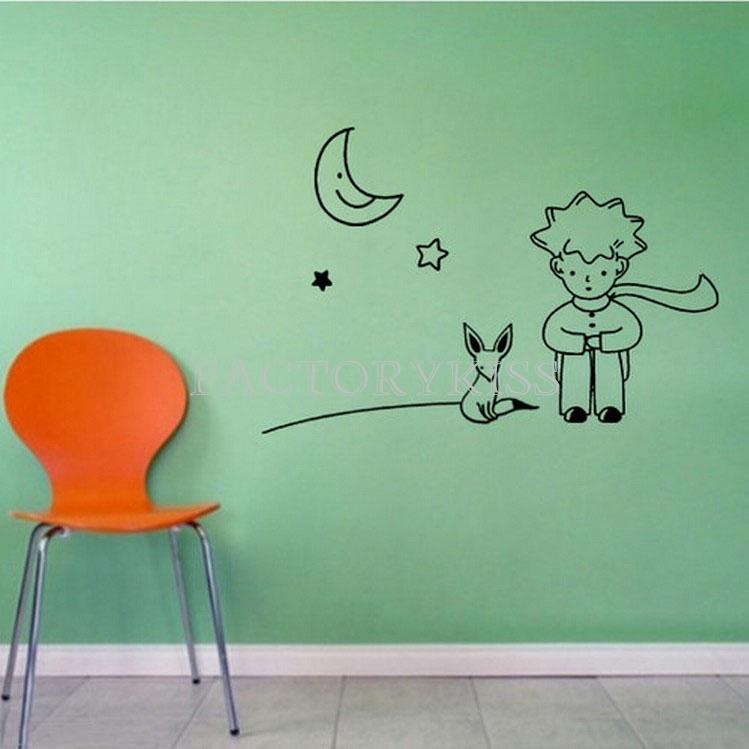 съемный маленький принц лиса Луна звезды наклейку бумаги искусства росписи стикер diy украшения дома 3 4007-307
