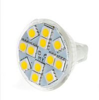 2W MR11 GU4 120-144LM LED Bulb Lamp 12 SMD5050 Warm White/White LED Lamp Spotlight
