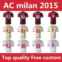2015  AC milan  Soccer Jersey top thailand quality football jerseysTorres camiseta Jersey