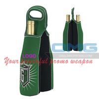 Free shipping ! Custom Imprint Neoprene 2 Two Wine Champagne Bottle Tote , Wine Bottle Cooler Bag,Sleeve Holder,Insulator