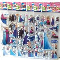 Frozen Christmas Cartoon Stickers Decorative Stickers Kids PVC Sticker toys stickers Children gift toys Free shipping