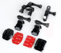 J hook buckle with screw bike handle bar handlebar seatpost pole mount holder for GoPro Hero 3+/3,bike helmet and tube mount set