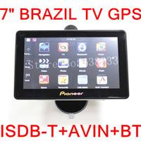 "7""  BRAZIL TV GPS Navigator MTK CE6.0 800MZ 128M Internal 4GB AVIN bluetooth FM  ISDB-T SOUTH AMERICAN TV GPS 2014 MAP"