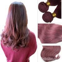 "14"" Brazilian Remy Virgin Body Wave Hair Extension, 100 Grams 530# Human Hair Weave 1pc/ Lot, Free Shipping"
