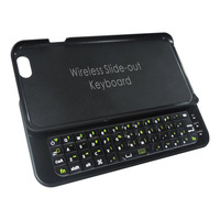 New Arrival Bluetooth Keyboard Case For iPhone6 Slide-Out Wireless Bluetooth Keyboard Back Cover For iPhone6 4.7 Case Free