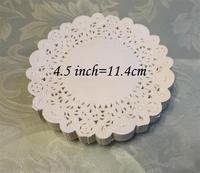 "SS1621 4.5"" Vintage napkin Hollowed Lace Paper mat Doilies Crafts DIY Scrapbooking/Card Making/Wedding Decoration(180pcs/bag)"