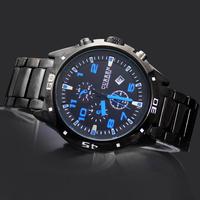 New Arrival Sports Fashion Man Watches Men's Boy's Curren Calendar Clock Hours Analog Quartz Wrist Watches, 8021