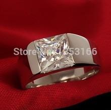 hot sale simulation diamond ring for men(China (Mainland))