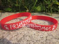 100pcs silicone personalized logo Customer specified disign wristband bracelet