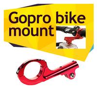 Colorful aluminum CNC bicycle bike handlebar mount tripod monipod for GoPro Hero 3+/3,flexible camera tripod Motorcycle seatpost