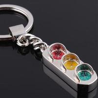 Hotsale Cute Traffic Signal Light Model Car Keychain Key Ring Chain Keyfob Gift