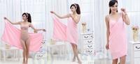 Durable Woman Wearable Super Absorbent Microfiber Fabric Bath Robe Beach Body Wrap Spa Towel 70*145cm