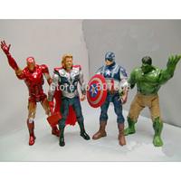 The Avengers Iron Man + Hulk + Thor + Captain America(set of 4) PVC Action Figures Toys 8'' 20CM