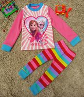 NEW 2014 Winter Pijamas kids Frozen Pajamas Set Fleece pijama infantil for 3-7ages kid pajama sets #827001