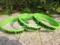 100pcs Personalized design custom logo filled in colour bracelet wristband band