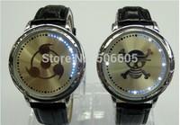Drop shipping 1pcs Fashion Unisex touch screenLed Touch Screen Digital Watch Men Blue Light Dot Matrix Sports Watch With Manual