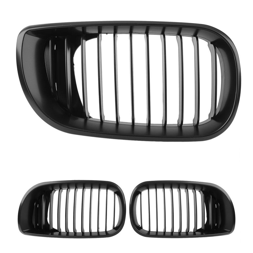 New hot New Matte Black Front Kidney Grille Cover Hood For BMW 2002-2005 E46 4D Sedan freeshipping(China (Mainland))